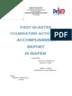 Culminating Activities in Mapeh