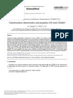 Transformation Characteristics and Properties of b Steel 22mnb5