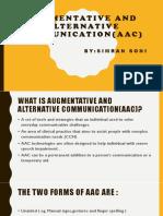 Augmentative and Alternative Communication(Aac) 1 - Copy