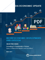 Cambodia Economic Update Recent Economic Developments and Outlook