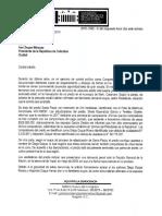 Carta Al Presidente Duque