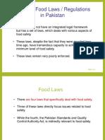 Pakistan Status of Food Laws
