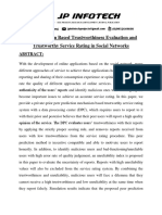 Peer Prediction Based Trustworthiness Evaluation and Trustworthy Service Rating in Social Networks