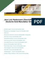 Jens Lutz Hestermann Geschäftsführer - Deutsche Gold Manufaktur GmbH DGM