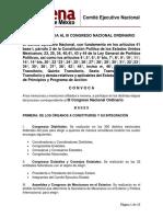 Convocatoria Al III Congreso Nacional Ordinario 200819