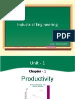 Industrial Engineering - Productivity