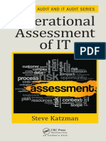 (Internal Audit and IT Audit 4) Katzman, Steve - Operational Assessment of IT-CRC Press (2016)
