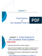 Food Science & the Canadian Food System