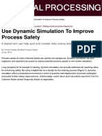 Use Dynamic Simulation to Improve Process Safety