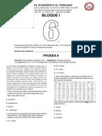 Evaluación Sociales Grado 6 p2