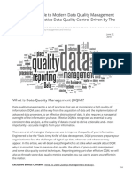 The Ultimate Guide to Modern Data Quality Management DQM for an Effective Data Quality Control Driven