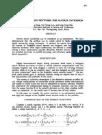 Optmization Network for Matrix Inversion
