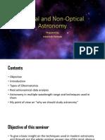 Optical and Non-Optical Astronomy
