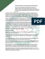 IATF 16949 Certification Essential for Successful Automotive Industry