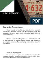 Exempting Circumstances