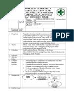 2.3.7.1 SOP Pengarahan Kapus Maupun Pj Program Dalam Pelaksanaan Tugas