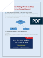 C++ Decision Making Structure