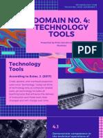 Domain 4 Technology Tools