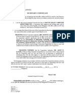 Secretary Certificates - Butuan