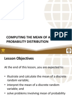 PSUnit I Lesson 3 Computing the Mean of a Discrete Probability Distribution