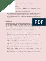 BCS Course Regulations