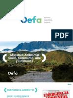 MUESTREO SUELO, SEDIMENTO, AIRE Y EMISIONES _ OEFA 2018..pptx