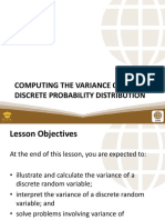 PSUnit I Lesson 4 Computing the Variance of a Discrete Probability Distribution