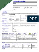 Supplier Form