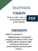 Dmci Mission & Vision