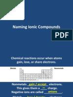 Naming Compounds Chemistry