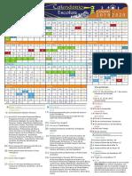 Calendario Escolar 19 20