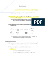 7a- Chemical Reactions Notes