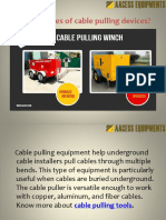 Cable Pulling Tips   Aacess Equipments