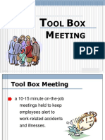 21. Tool Box Meeting