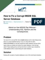 fixing msdb