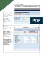 TRIP Documentation in SAP-FB03