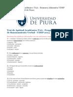 Test de Aptitud Académico TAA