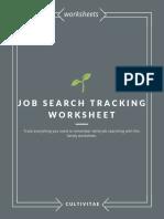 Job Search Tracking Worksheet