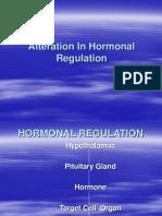 Alteration in Hormonal Regulation