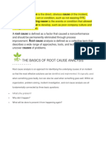 Root Causes and CAPA
