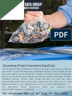 Hazardous Waste Disposal Email List in USA