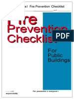 Mechanical Fire Prevention Checklist