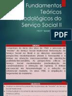 Aula 1 - Apresentação Fundamentos Teóricos Metodológicos Do Serviço Social II