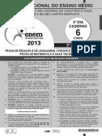 ENEM - 2013 - DIA 02 - CADERNO 06 - CINZA - PROVA 2ª APLICAÇÃO.pdf