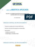 Aula 04 - A Unidade Central de Processamento