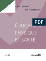 Éducation physique et santé en Ontario