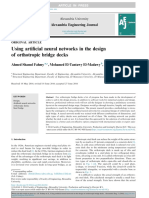 Using artificial neural networks in the design of orthotropic bridge decks
