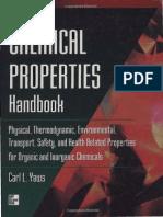 Yaws Chemical Properties Handbook