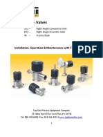 Top Line Sample Valves - Iom Manual