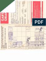 Modelo cartão de  vacina